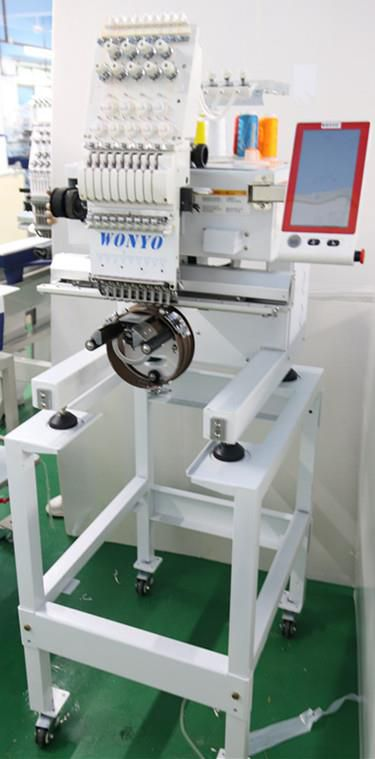 Latest 1 Head 9 Needles Embroidery Machine For Sale