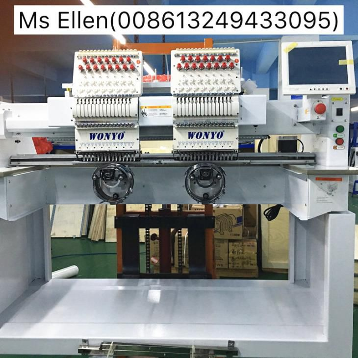 2 Head 15 Colors Automatic Cap Embroidery Machine