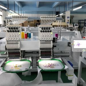 Newest 2 Head Computer Cap And T-shirt Embroidery Machine Manufacture